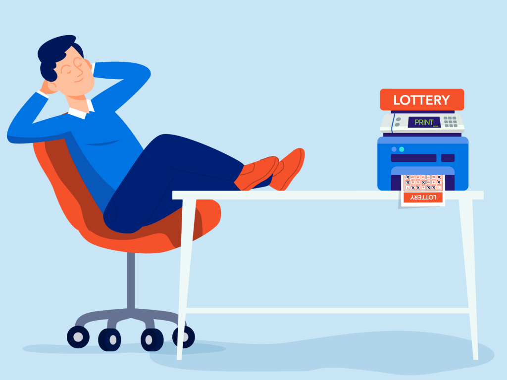 lottery machine printing numbers