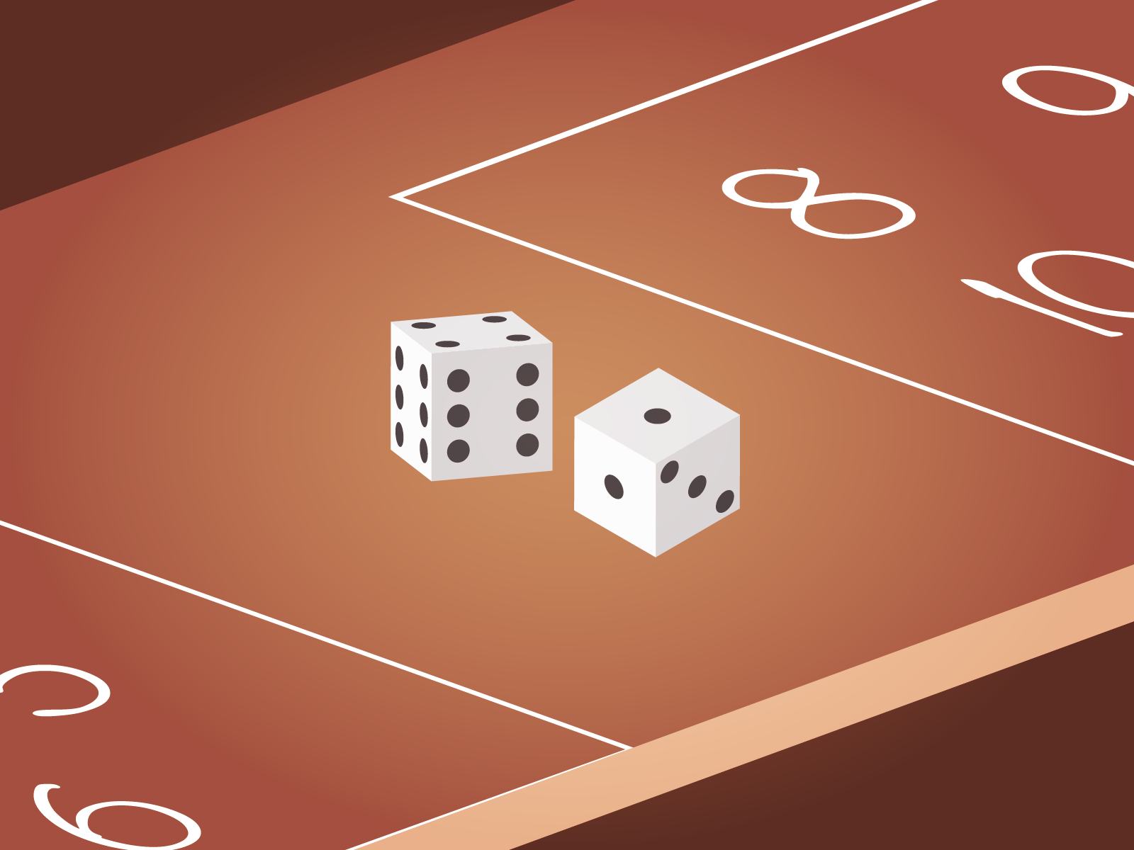 Cheat dice for Sevens out game